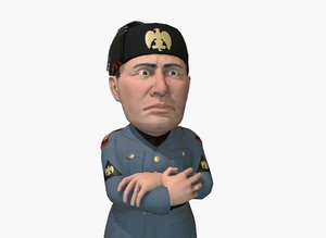 caricature mussolini model