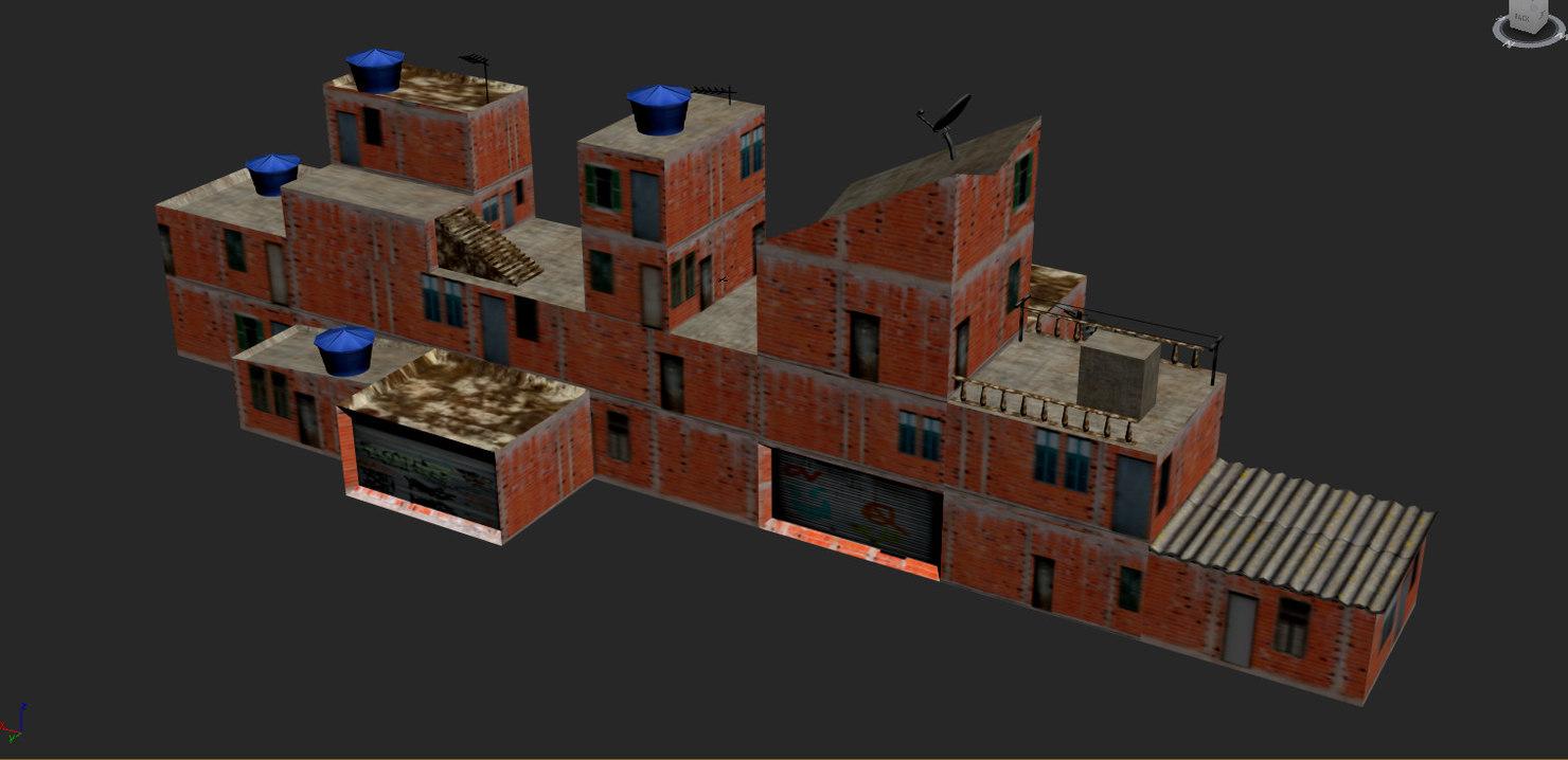 3D favelas rio janeiro