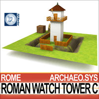 3D model roman watch tower c