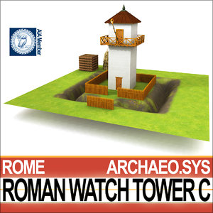 3D model roman watch tower c