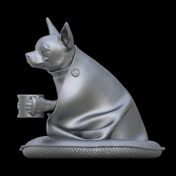 3D statue chihuahua