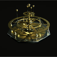 gold planetarium model