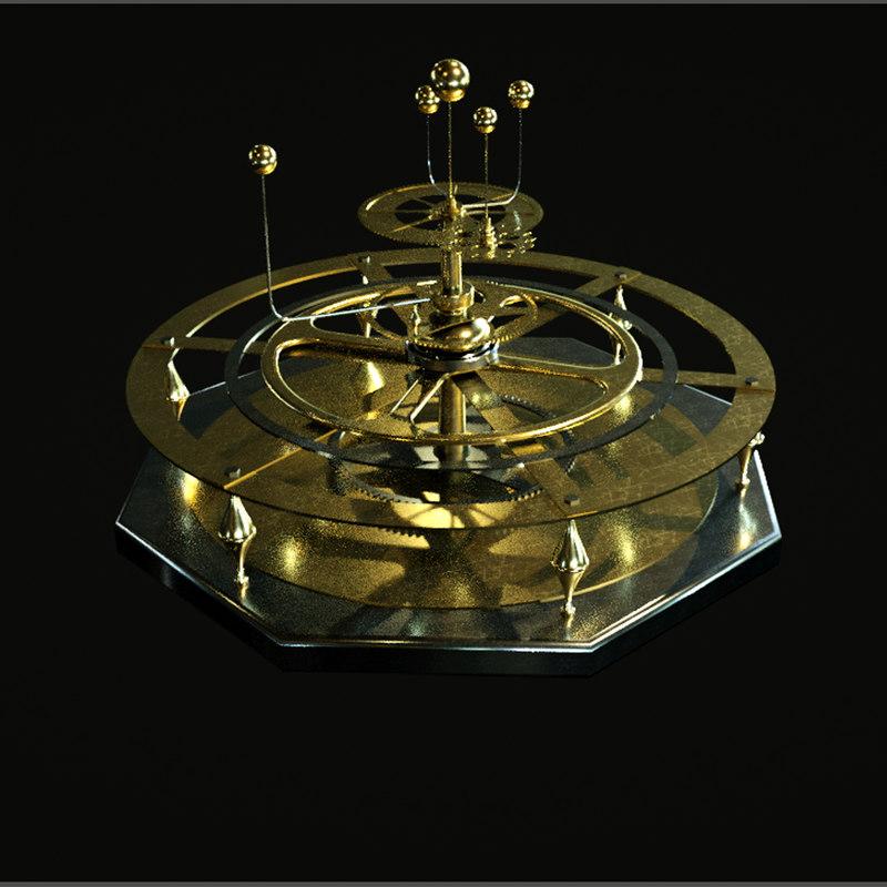 gold planetarium model