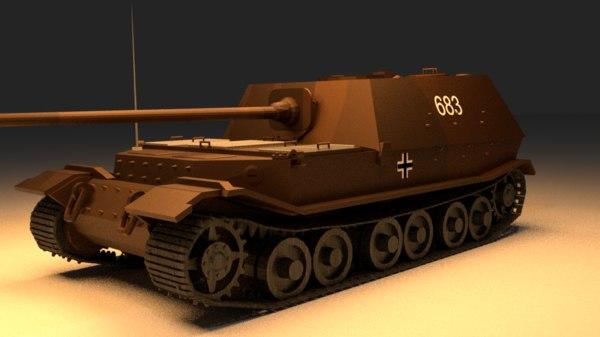 3D model tank military