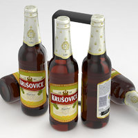3D model beer krusovice