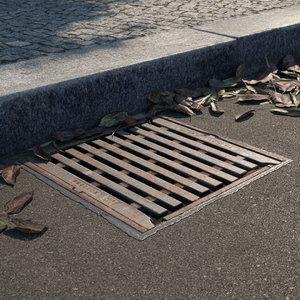 3D manhole cover 01 model