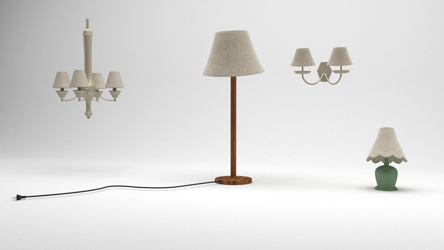 3D lamp cartoon