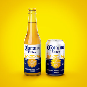 3D model beer pack corona