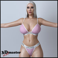 3D female character girl