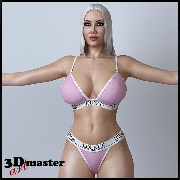 3D female character girl