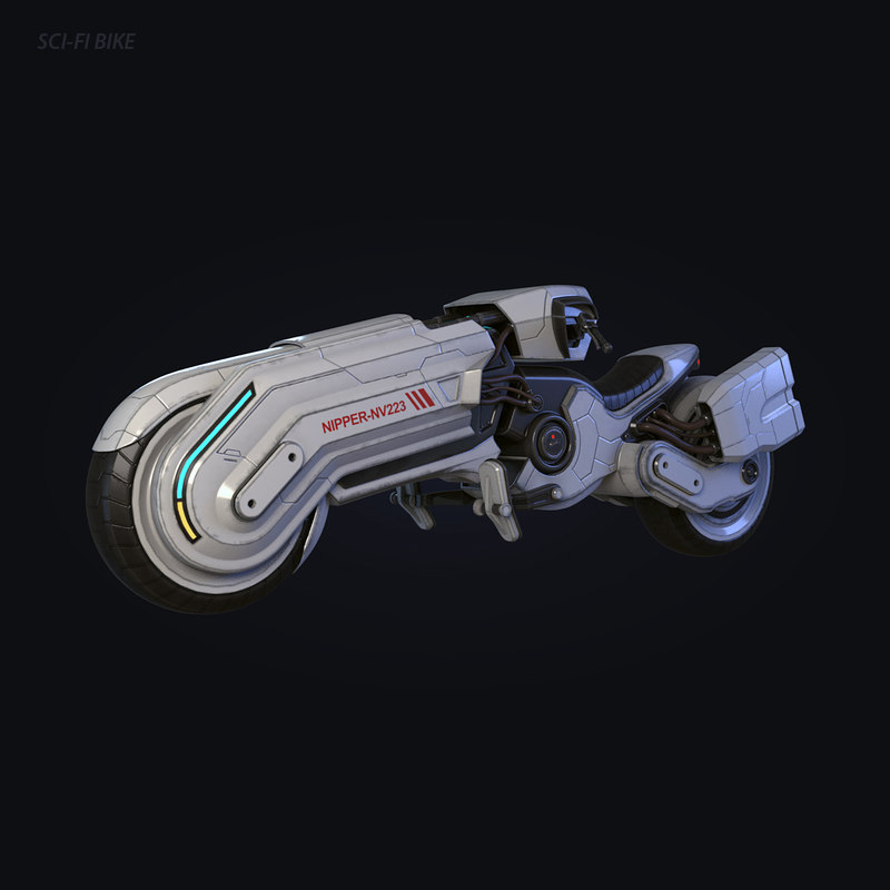 sci-fi bike 3D model