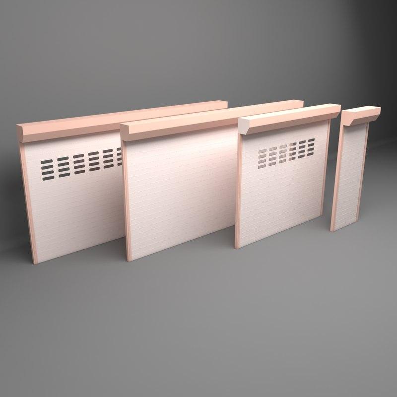3D garage shop window model