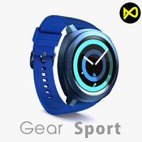 3D samsung gear sport model