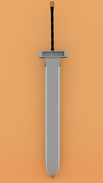 3D broadsword blender