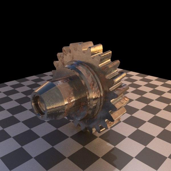cog gear 3D model
