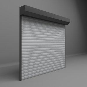 3D garage door electric model