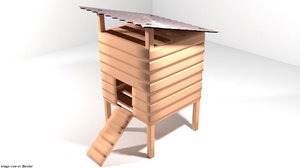hen house 3D model