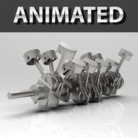 Engine V12 Animated