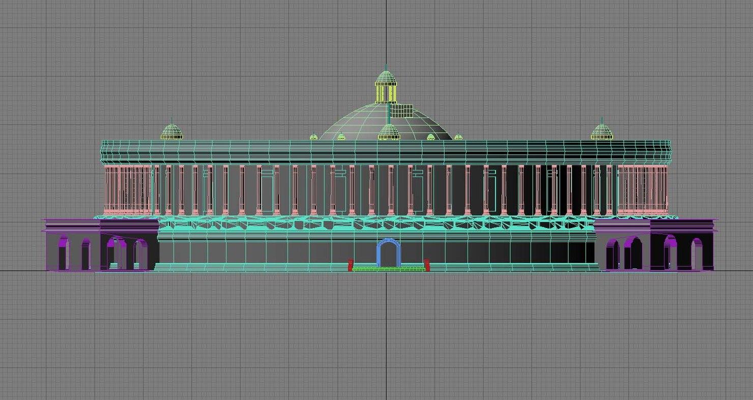 indian parliment 3D model