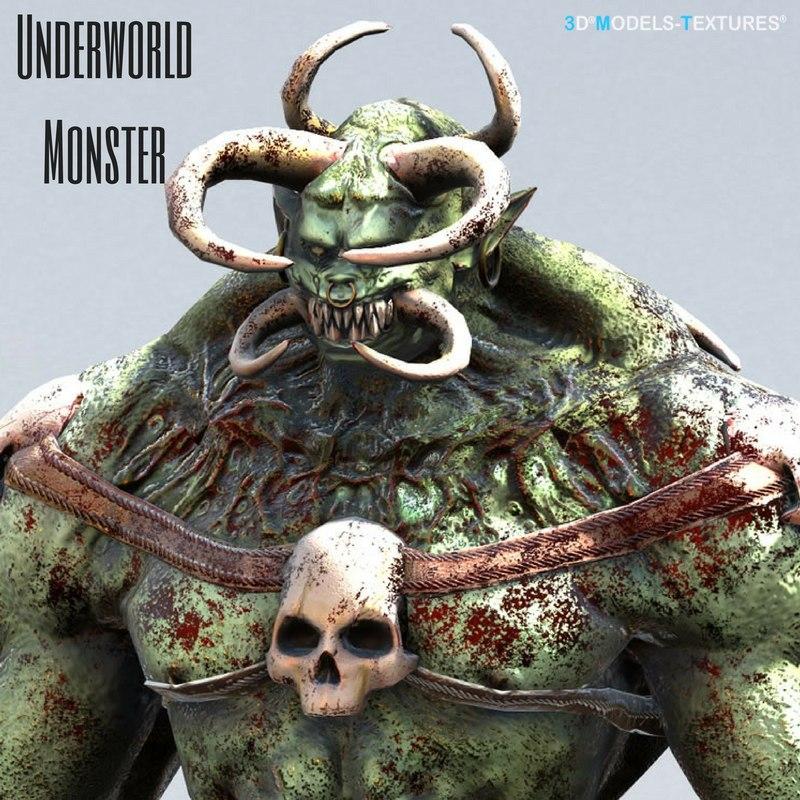 3D model underworld monster