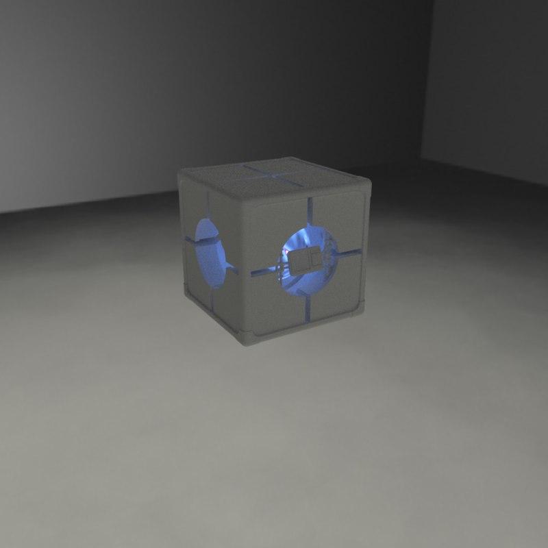 sci-fi cargo container 3D model