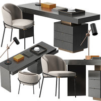 minotti carson desk set 3D model