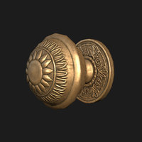 old handle door 3D model