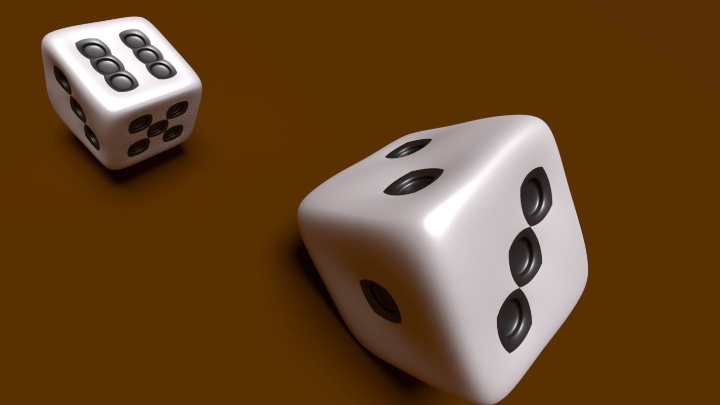 dice roll animation 3D