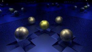 metalic balls 3D model