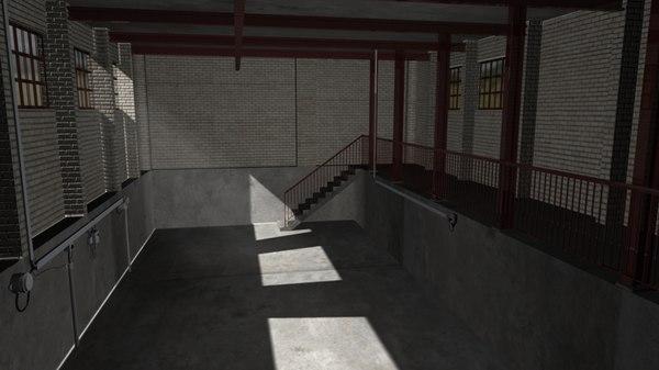 pump station interior 3D