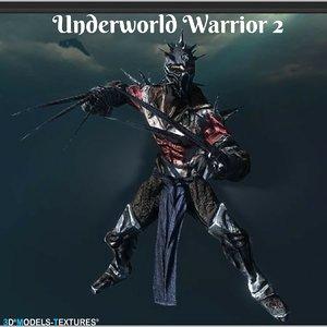 3D model underworld warrior
