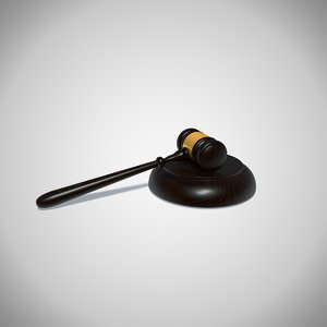 gavel ceremonial mallet 3D model