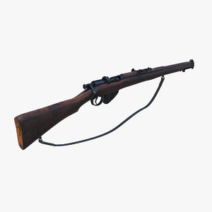 lee enfield mk3 3D model