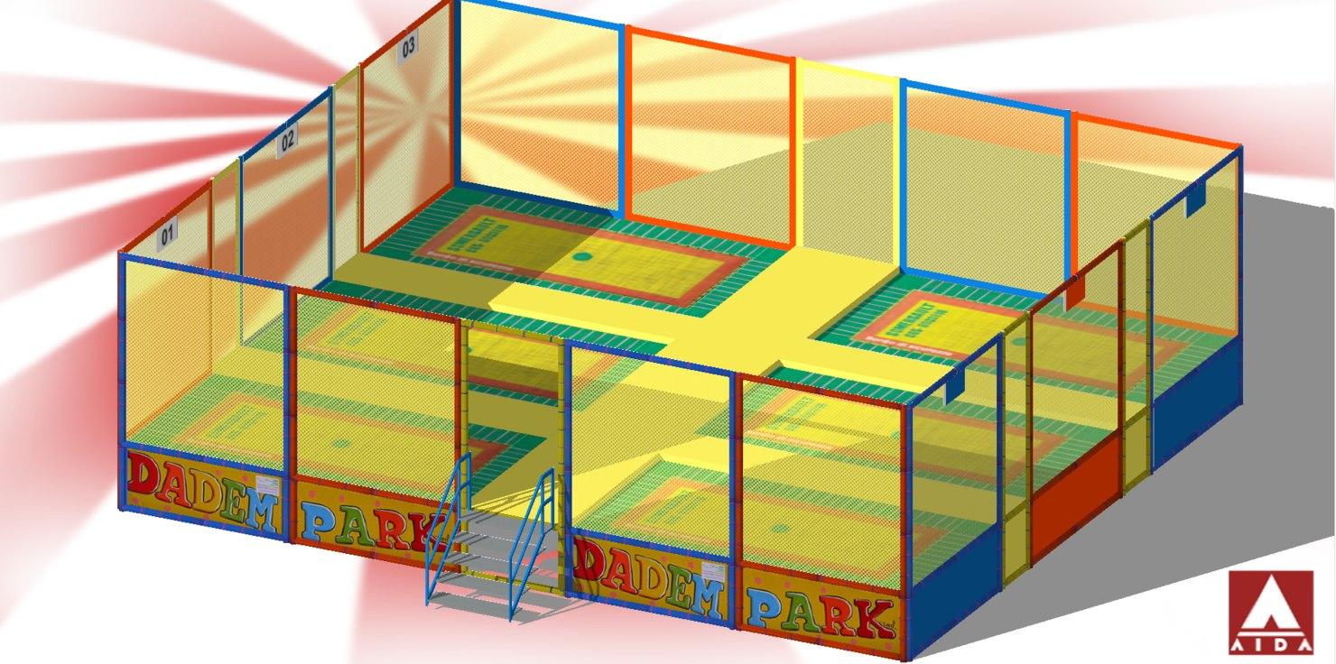 trampolines elastic carpet 3D model