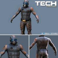 3D tech commander model
