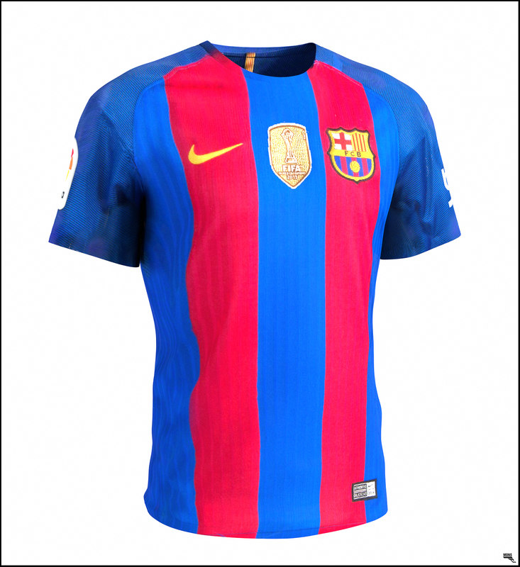 Barcelona Shirt T Shirt 3d Model Turbosquid 1209949