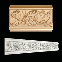 3D frieze gold model