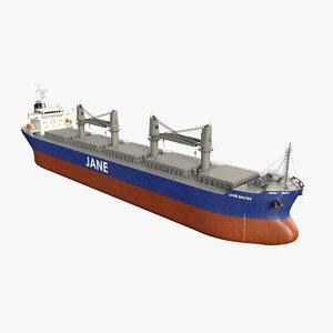 3D bulk carrier ship model