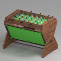 Game table 3 in 1 football air hockey billiards