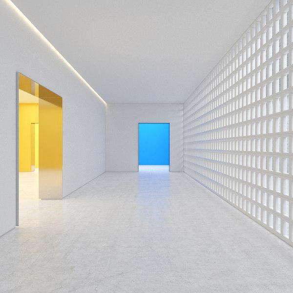 hallway room light 3D