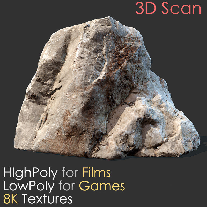 Stone scan 01 photogrammetry 3D model - TurboSquid 1209982 on Granite Models  id=13971
