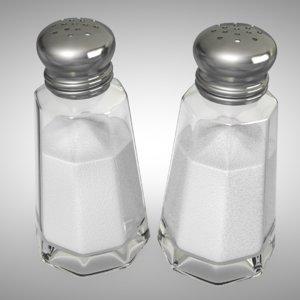 3D salt shaker model