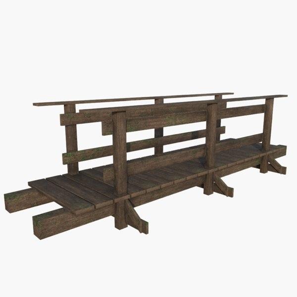 wood wooden bridge model
