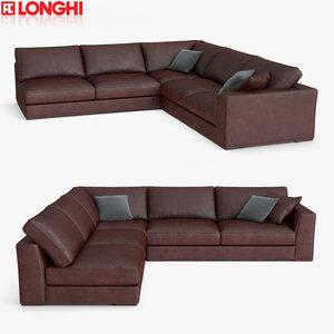 3D model longhi sofa section