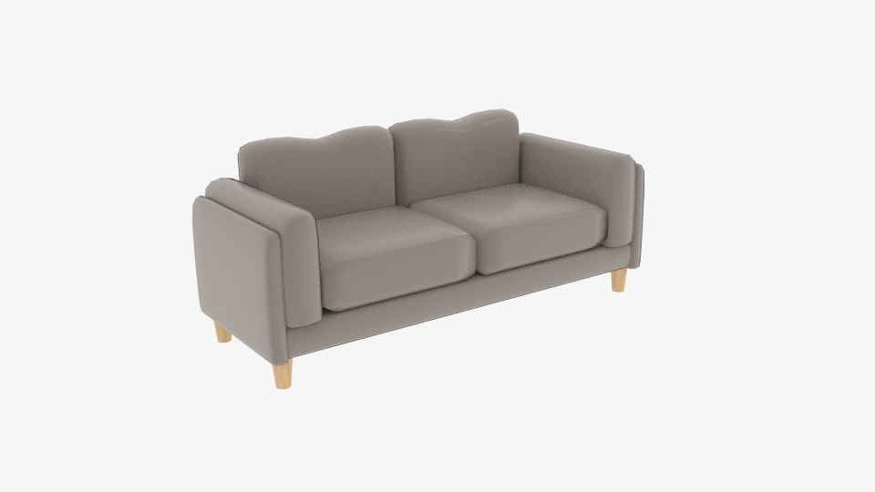 3D fabric sofas small cuddle model