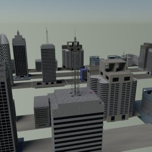 buildings cityscapes 3D model