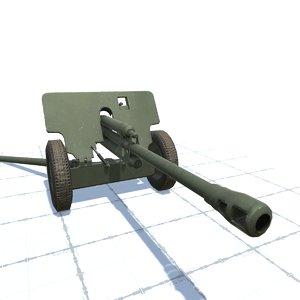 3D 76 mm gun model