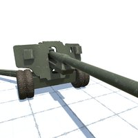 3D 100 mm gun bs-3 model