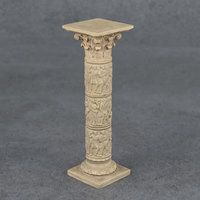decorative pedestal stand corinthian 3D model
