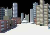 3D buildings city